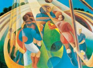 "Gerardo Dottori, ""Partita di calcio"", 1928"
