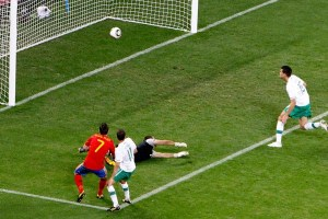 Villa segna l'1-0 in Sud Africa