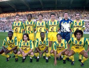 Una formazione del Nantes 1994/95