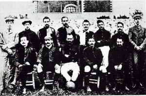 Una foto del 1900 dell'Anglo-Palermitan Athletic and Foot-Ball Club