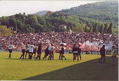 Lo Spezia il giorno della promozione in C1