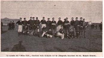 Il Milan vincitore della Medaglia del Re 1902
