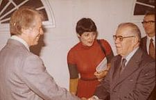 Aparicio Méndez insieme a Jimmy Carter