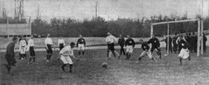 Francia-Svizzera, incontro internazionale del 1905: la Svizzera è affiliata alla FIFA dal 1904