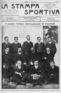 1908 il torino al torneo della stampa sportiva
