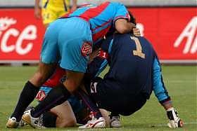 27 maggio 2007, la gioia dei giocatori catanesi