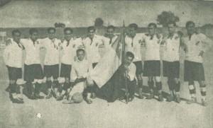 Equipo de Colo-Colo que jugó contra la Real Unión Deportiva de Valladolid
