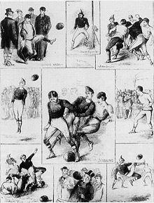 Un'illustrazione della partita internazionale Scozia-Inghilterra (30/11/1872) (da wikipedia)
