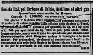 carburo di calcio stampa 2 2 1900