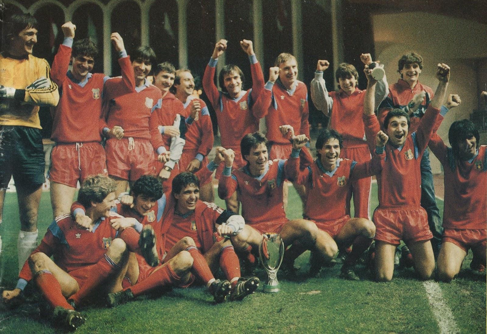 La Steaua festeggia la Supercoppa Europea