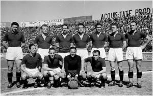 Una formazione del Torino 1942/43: Mazzola, Loik