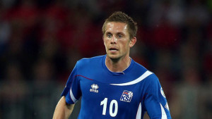 Gylfi Sigurðsson, centrocampista islandese dello Swansea City autore della doppietta che ha affossato l'Olanda