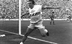Fiorini esulta dopo il gol vincente al L.R.Vicenza