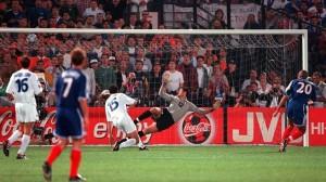 Toldo subisce gol da Trezeguet. Lui, Cannavaro e  erano presenti anche a Montpellier