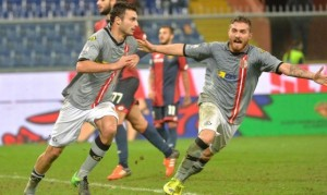 Bocalon festeggia il gol decisivo in Genoa-Alessandria, 8vi 2014/15