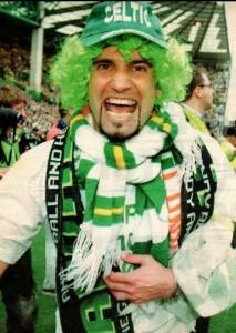 Annoni festeggia la vittoria del Celtic Glasgow in campionato