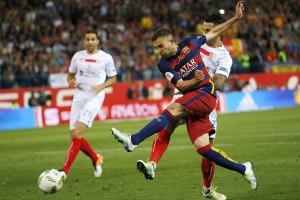 Jordi Alba segna l'1-0