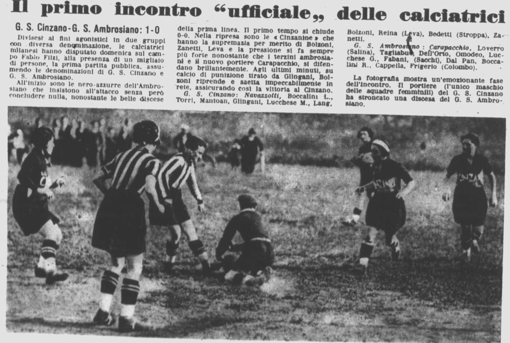 La storia del Gruppo Femminile Calcistico di Milano – seconda parte