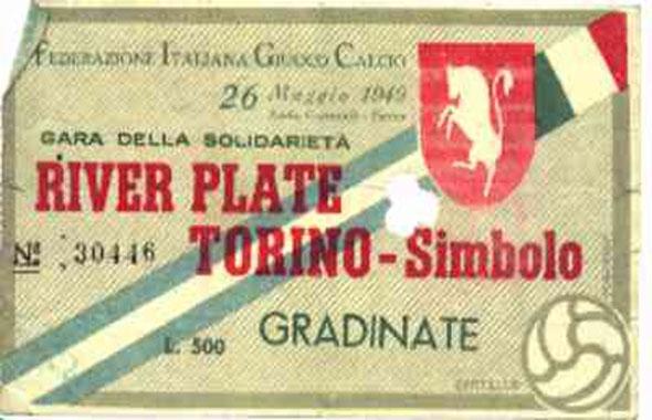 1949 river torino simbolo biglietto